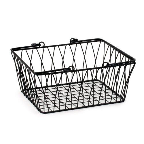 High Quality Spectrum Diversified Twist Wire Storage Basket, Medium, Black