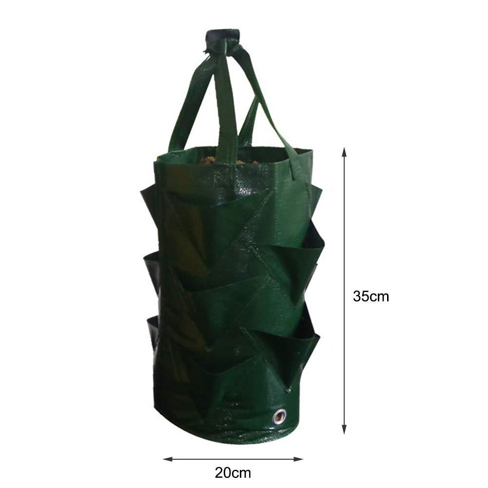 para plantar flores EPNT Bolsa de plantaci/ón de fresa port/átil de 3 galones maceta para cultivo de plantas Bonsai multiboca