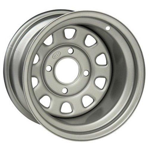 ITP Delta Steel Wheel - 12x7 - 2+5 Offset - 4/110 - Silver , Bolt Pattern: 4/110, Rim Offset: 2+5, Wheel Rim Size: 12x7, Color: Silver, Position: Rear 1225544032