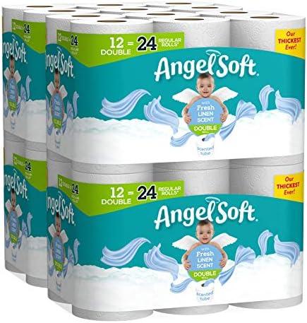 Angel Soft Toilet Paper, Linen Scent, Double Rolls, Bath ...