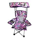 Kid's Folding Chair with Canopy and Durable Carry Bag Purple Unicorn