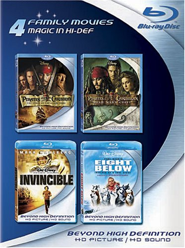 Blu ray 4 Pack Pirates Caribbean Invincible product image