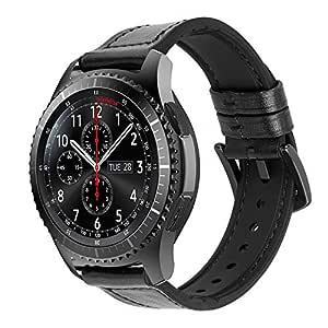 iBazal 22mm Correas Cuero Ibrida Gomma Pulseras Bandas Compatible con Samsung Galaxy Watch 46mm,Gear S3 Frontier Classic,Huawei GT/2 Classic/Honor ...