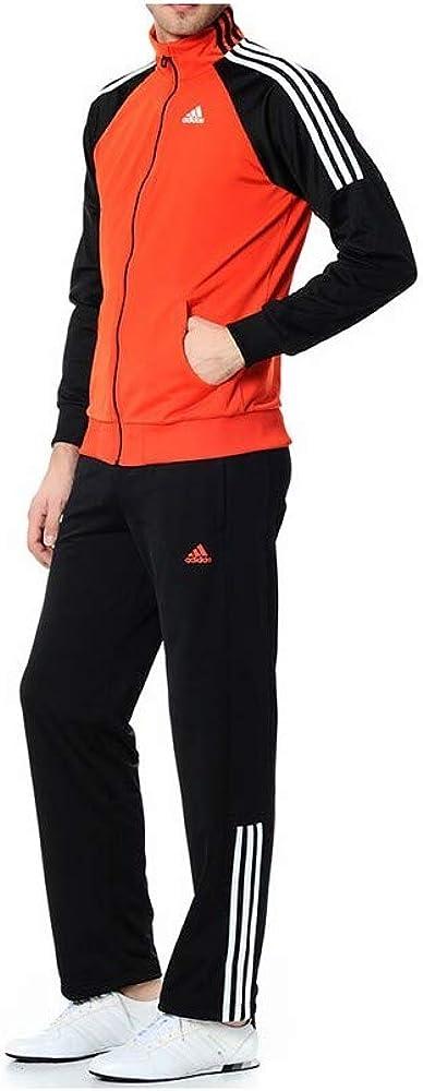 adidas - Chándal - para hombre negro Orange/Black 180 cm: Amazon ...