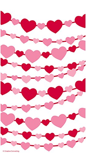 Creative Converting 12 Count Cello Zippered Treat Bag, Heart Garland (Candy Treat Ideas)