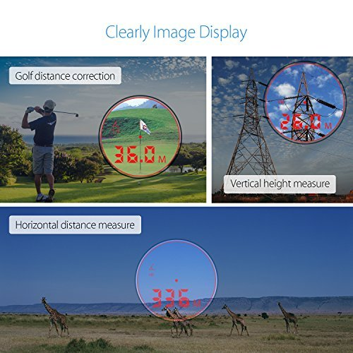 Hunting Golf Rangefinder Red Digital Display Professional-Class 800 Yards 6X Magnification Range Finder Support Pin Lock and Trajectory correction