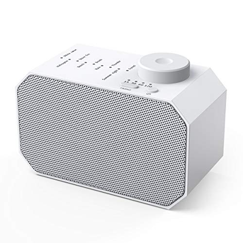 (Upgraded Version) White Noise Machine,9 Non-Looping Soothing Sounds Sleep Sound Machine, with Auto-Off Timer Sleeping Sound Therapy for Baby Adult Traveler, Portable for Home Office Travel