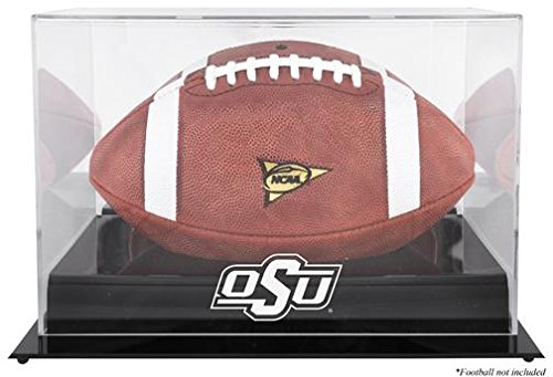 Oklahoma State Cowboys Team Logo Football Display Case | Details: Black Base, Mirror Back ()