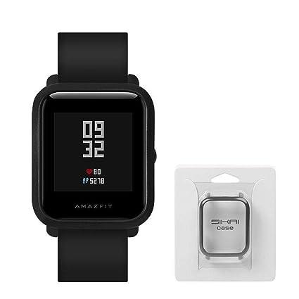 Auto Echo Protector de Pantalla para Xiaomi huami amazfit Bip Juvenil Smart Reloj Completa Funda Marco Delgado Reloj Funda Accesorios para Mujeres ...
