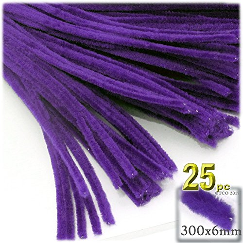 Purple Chenille Stems - The Crafts Outlet Chenille Stems, Pipe Cleaner, 12-inch (30-cm), 25-pc, Purple
