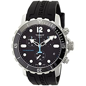 Tissot Men's T066.417.17.057.00 'Seastar 1000' Black Dial Black Rubber Strap Swiss Quartz Watch