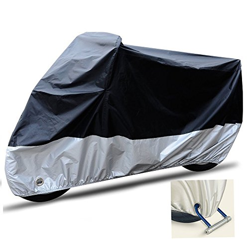 Waterproof Touring Motorcycle (Waterproof Sun Motorcycle Cover Bike Cover, Anti-theft Lock Holes Design, Indoor/Outdoor Harley Cover, Anti-radiation, Avoid Overheating, UV Protection, 108