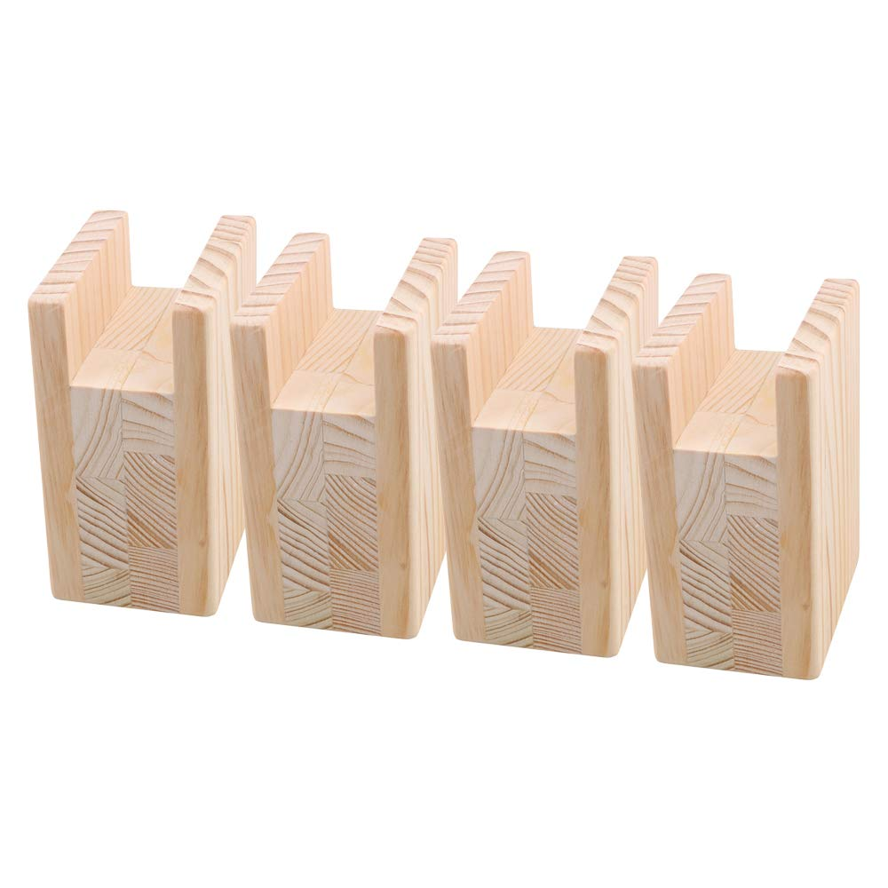 Yibuy 4x Furniture Table Lifter Sofa Risers 4x10CM Groove 4 Inch Lift Height