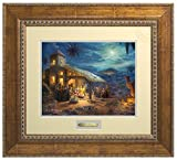 The Nativity Thomas Kinkade Prestige Home Collection (Antiqued Gold)