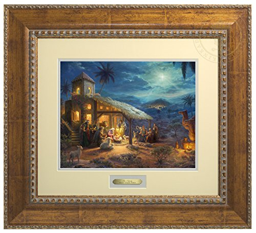 The Nativity Thomas Kinkade Prestige Home Collection (Antiqued Gold) by Thomas Kinkade