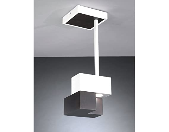 Plafoniere Moderne In Legno : La lampada cubic wood a soffitto plafoniera led moderna