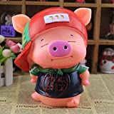 Kawaii Cute Pig Piggy Bank Resin Personalized Baby Nursery Decor Home Furnishing decoration Cool