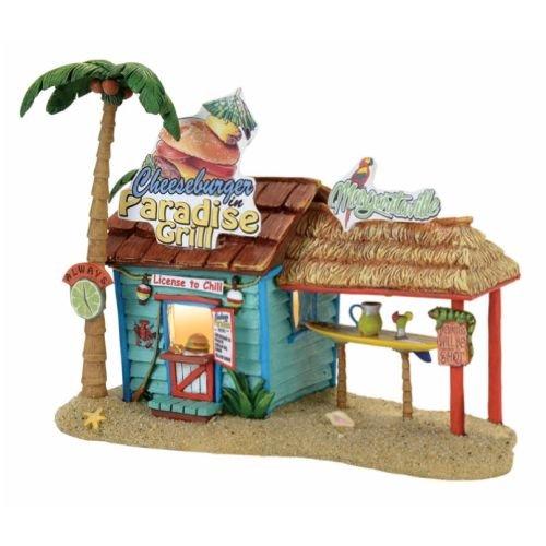 Department 56 Margaritaville Village Paradise Grill Musical Lit Building, Multicolor