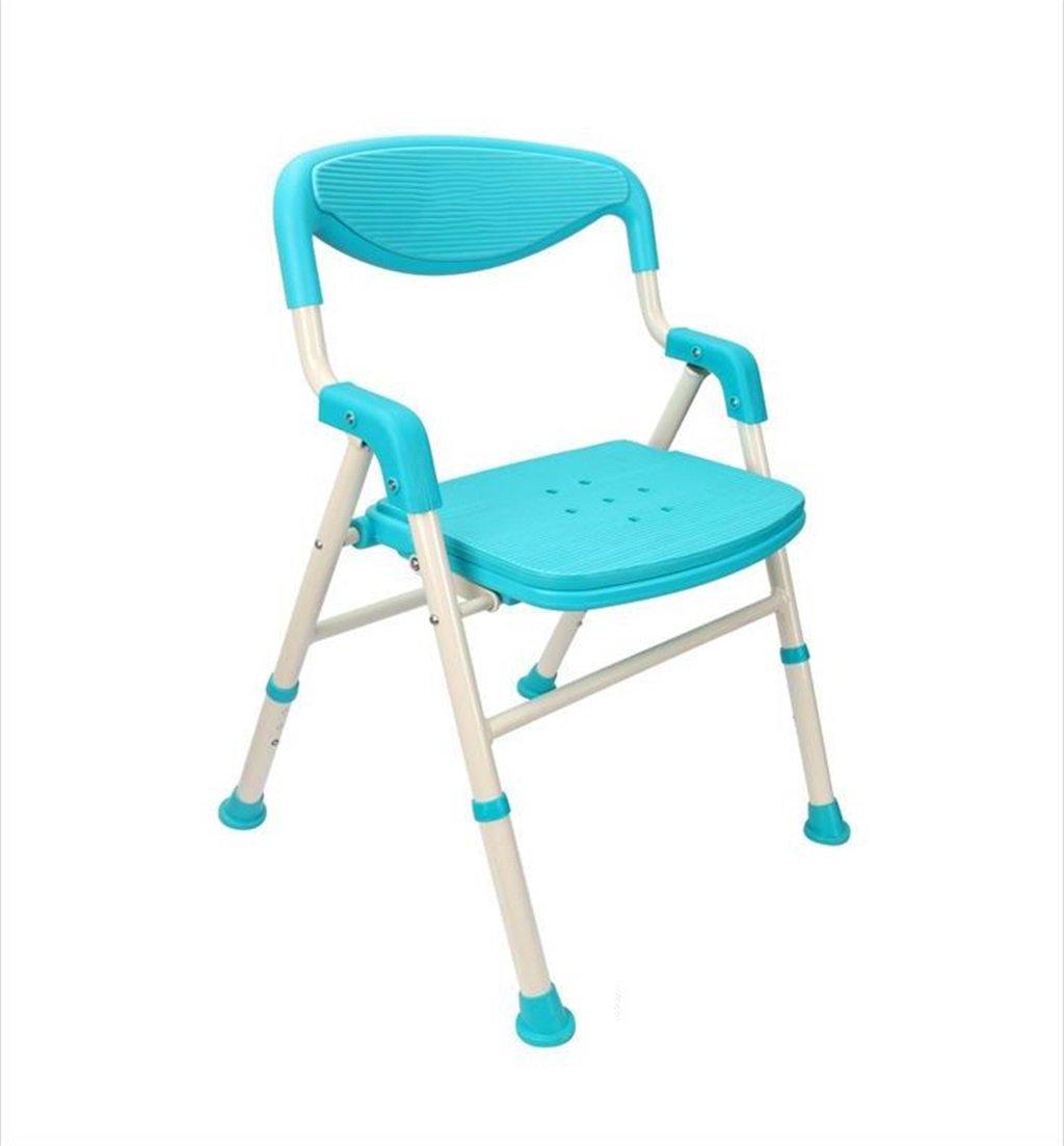 Amazon.com: ZRX-Bathing Chair Bathroom Folding Shower Chair for ...