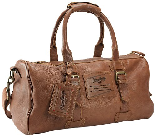 Glove Leather Striped (Rawlings Legends 19 Inch Duffle, Glove Brown, One Size)