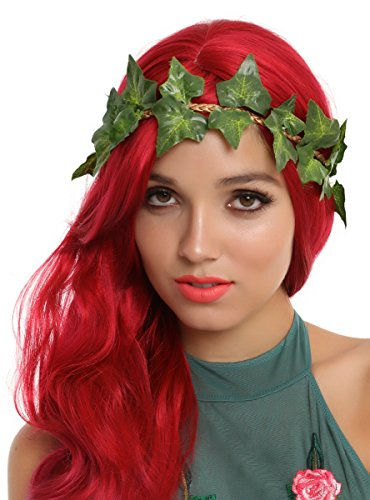 Poison Ivy Costume For Women (DC Comics Poison Ivy Leaf Crown Headband)