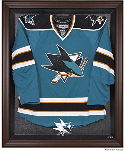 (San Jose Sharks Brown Framed Logo Jersey Display Case)