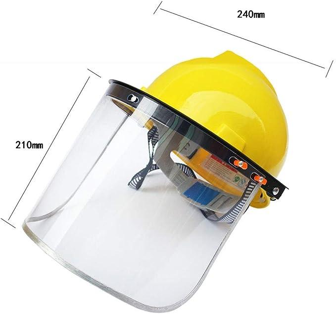 Viseras YCDJCS Máscara de Seguridad Tipo de Casco Escudo Facial ...