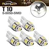 06 dodge ram 2500 cab lights - Partsam 5x White 5-5050-SMD 161 194 T10 LED Bulb for Clearance Cab Marker Light lamp