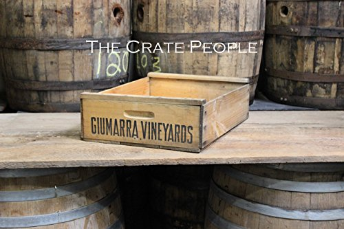 Vintage New-Old Stock VINEYARD SHORT Grape Crate | hundreds available | vintage crates