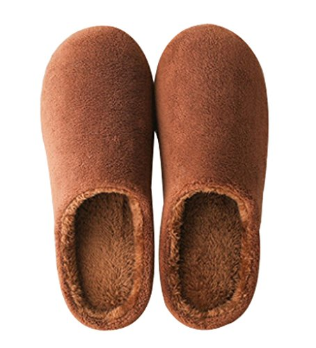 Cattior Mens Warm Slippers House Indoor Furry Slippers Coffee KLCBhnGMXv