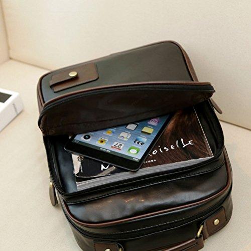 Nasis Classic Vintage College School Laptop Backpack Bag Pack AH5020 (black)