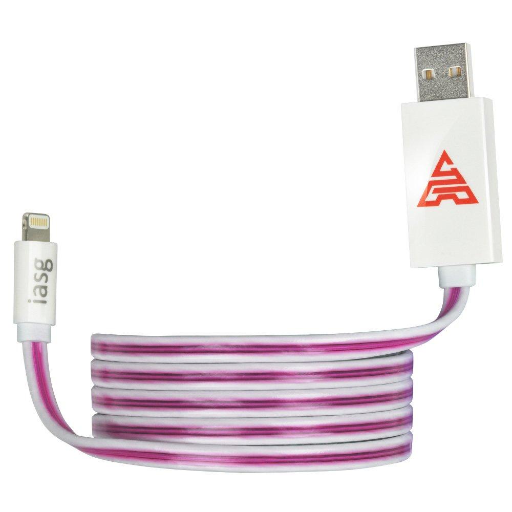 iasg Lightning Kabel Sichtbares Fließt LED Light: Amazon.de ...