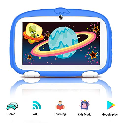 Kids Tablets, Android 9.0 Tablet for Kids, 16GB ROM, IPS Eye Protection Display, Kids Tablet with WiFi Dual Camera Parental Control Google Play and Learning Games, Best Gift for Boys Girls