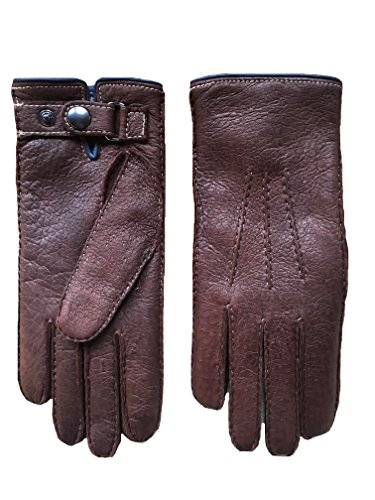 (Men's Winter Gloves made of Peccary Leather with Cashmere Lining Sierra Color (9, Sierra) )