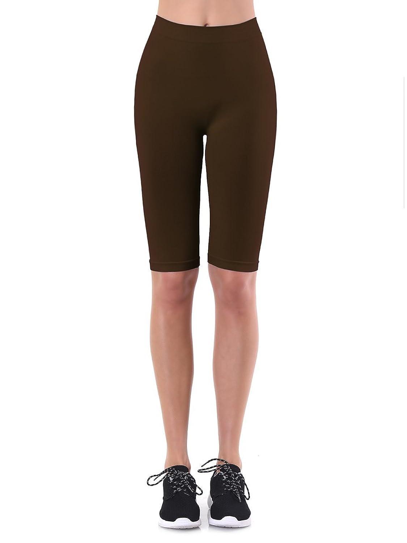 b10c70ed43266 70%OFF Teejoy Women's Seamless Nylon Knee Length Leggings One Size ...