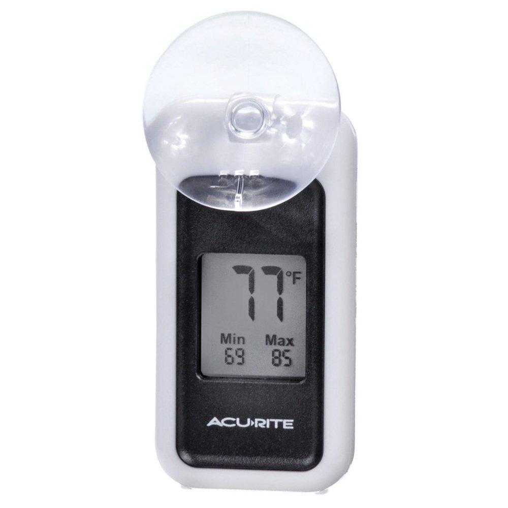 Ar Digital Indoor/Outdoor Silver Thermometer