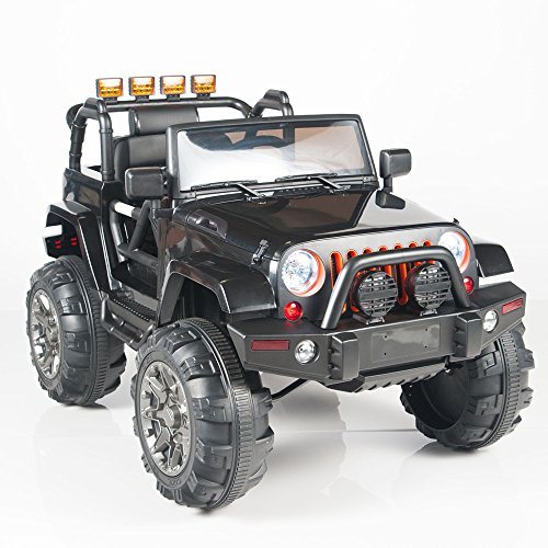 Kids 12V Electric Powered Ride On Truck with Big Wheels RC / Remote Control, Black