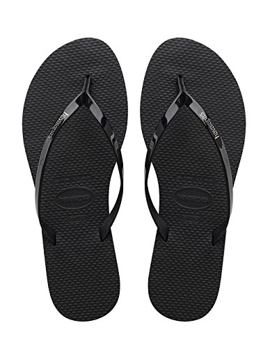 Havaianas Women's You Metallic Sandal, Black,37/38 BR (7-8 M US) from Havaianas