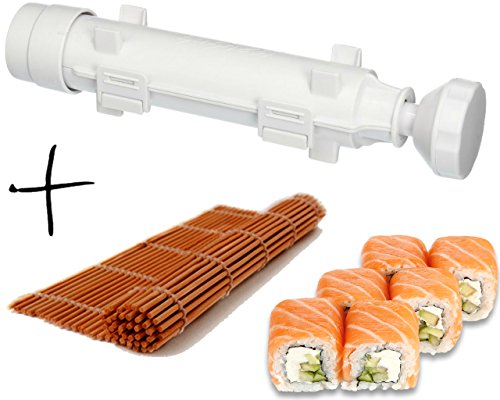 Sushi Set – Sushi Bazooka and Sushi Mat, Kitchen Appliance Machine Rice Roller Making Kit, Cook&LifeShop