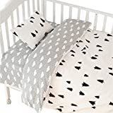 CC Shop Lovely Baby Toddler Infant Kids Cotton Crib Bedding Set (Tree & Cloud)