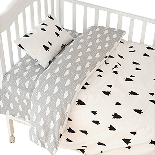 CC Shop Lovely Baby Toddler Infant Kids Cotton Crib Bedding Set (Tree & Cloud) from CC Shop