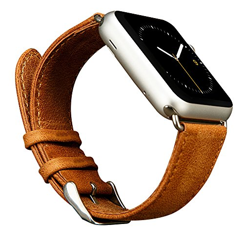 Cheap Smart Watch Bands Apple Watch Band,Jisoncasse Genuine Leather Wristband for 38mm Apple Watch Series 1&2..