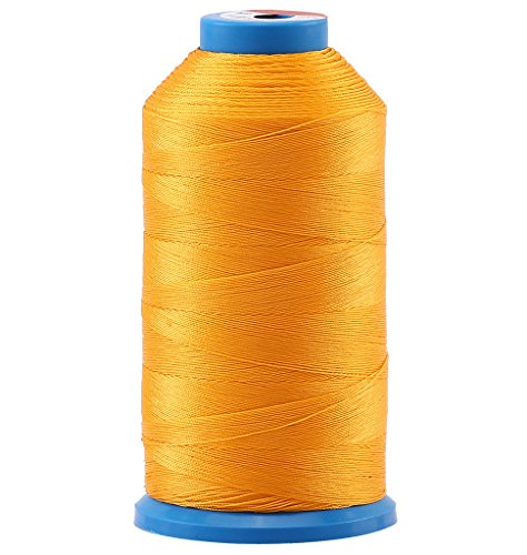 Selric [1500 Yards/Coated/No Unravel Guarantee/21 Colors Available] Heavy Duty Bonded Nylon Threads #69 T70 Size 210D/3 for Upholstery, Leather, Vinyl, and Other Heavy Fabric (Orange)