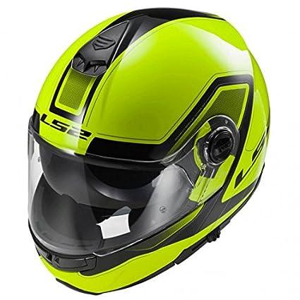 Amazon.es: Casco modular moto LS2 FF325 Strobe Civik Hi-Vis amarillo (XL)