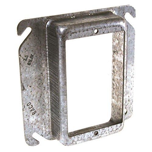 Raco 4 in. Square Single-Gang Raised 1-1/4 in. Mud Ring, (25 -