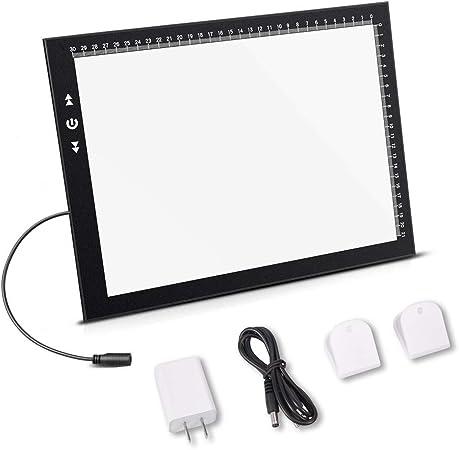 ultrad/ünnes LED Lichtpad Handzeichnung LED Leuchttisch Leuchtplatte Lichtpad Tragbarer Lichtbox Tracer USB Positionierungsloch Flip Book Kit Malutensilien USB LED Licht Pad