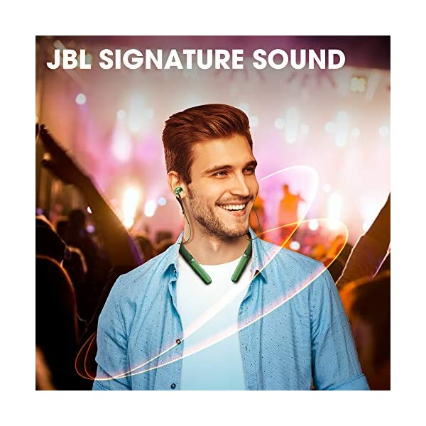 JBL LIVE200BT by Harman in-Ear Wireless Neckband Headphones with 10 Hours Playtime, Multi Point Connectivity & Premium… 2021 July The legendary JBL Signature Sound as found at concerts, in the studio and in the home is now available in a headphone Enjoy long-lasting fun and fast recharging thanks to best in class 10 hours of play time and 2 hour quick charge Quick Launch Access to Google Assistant / Siri.