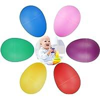 Chudian 24pcs Huevos de Maracas,Juego de Shaker de Huevo Huevos de Pascua de Plástico Maracas de Huevo para Niños Bebes…