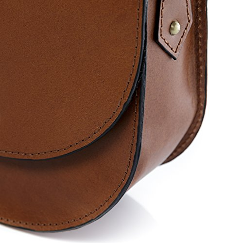 handbag cross amp; body stable woman women´s shoulder hobo small leather cognac character real TRISH bag Tan bag bag brown VAIN SID 7qwYdP7