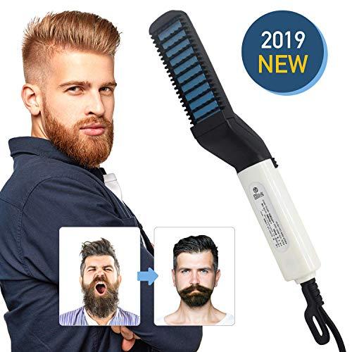 Plancha de Pelo Barba, Alisador Barba Los Hombres Rápido Peine Alisador Barba Alisar Multifuncional Peine Electrico Barba para el cabello y barba de los hombres